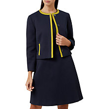 Buy Hobbs Teresa Jacket, Navy/Chartreuse Online at johnlewis.com