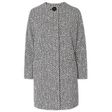 Buy L.K.Bennett Yves Tweed Coat, Black/White Online at johnlewis.com