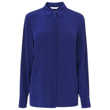 Buy L.K.Bennett Vietta Silk Shirt, Violet Online at johnlewis.com