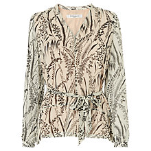 Buy L.K.Bennett Linnea Silk Top, Cream Online at johnlewis.com
