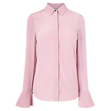Buy L.K.Bennett Tulia Silk Shirt, Lavender Online at johnlewis.com