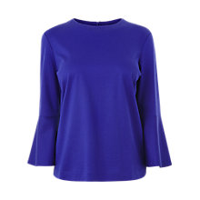 Buy L.K.Bennett Leon Fluted Sleeve Top, Violet Online at johnlewis.com