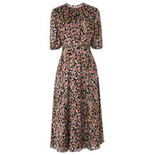 Buy L.K.Bennett Sukie Print Silk Dress, Pink/Multi Online at johnlewis.com