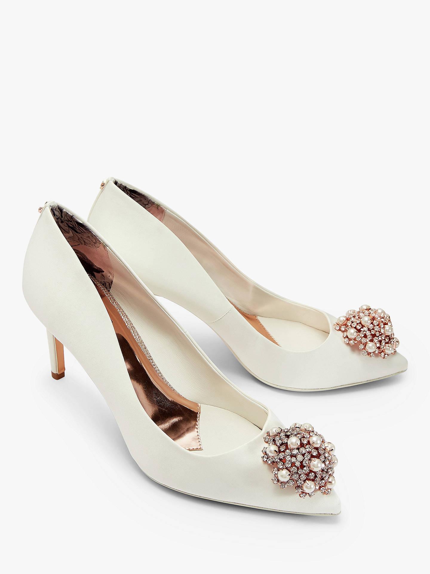 b9e34069dbf429 Buy Ted Baker Dahrlin Embellished Court Shoes, Ivory, 4 Online at  johnlewis.com ...