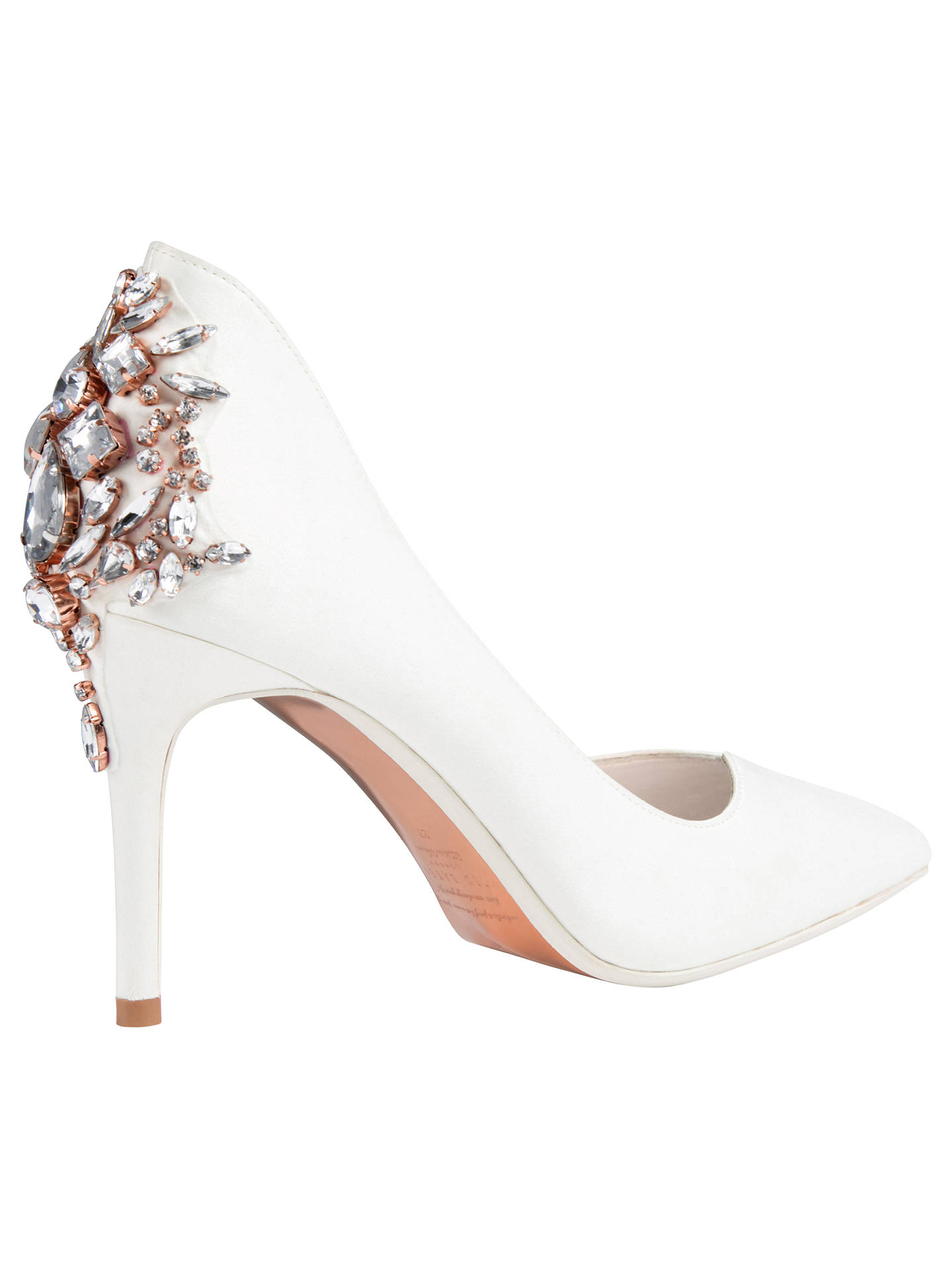 0d1ce60a5d ... Buy Ted Baker Finoula Embellished Court Shoes, Ivory, 4 Online at  johnlewis.com ...