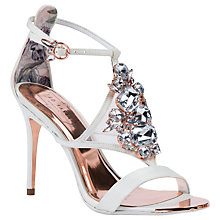 Buy Ted Baker Liosa Embellished Stiletto Heel Sandals, Ivory Online at johnlewis.com