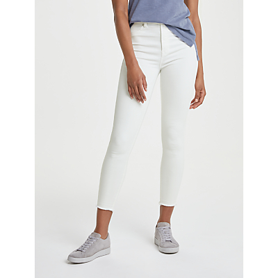 7 For All Mankind Aubrey Unrolled Slim Illusion Jeans, Pure White