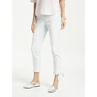 Marc Cain Cropped Ankle Tie Jeans, Washed Denim
