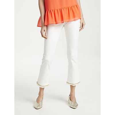 Marc Cain Beaded Hem Jeans, White
