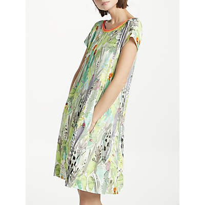 Marc Cain Cactus Print Jersey Swing Dress, Multi