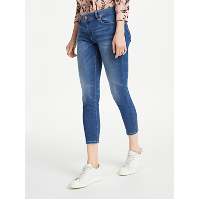 DL1961 Florence Mid Rise Cropped Skinny Jeans, Everglade