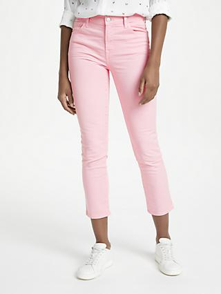 J Brand Ruby High Rise Cropped Jeans, Blossom Pink