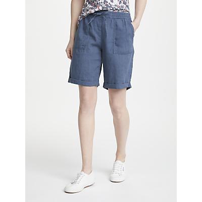Gerry Weber Drawstring Linen Shorts, Blue Denim