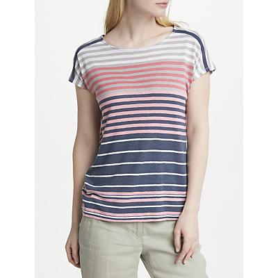 Gerry Weber Cap Sleeve Stripe Jersey Top, Multi