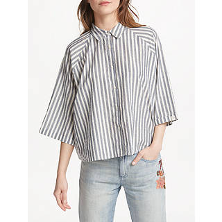 Maison Scotch Stripe Shirt, Blue