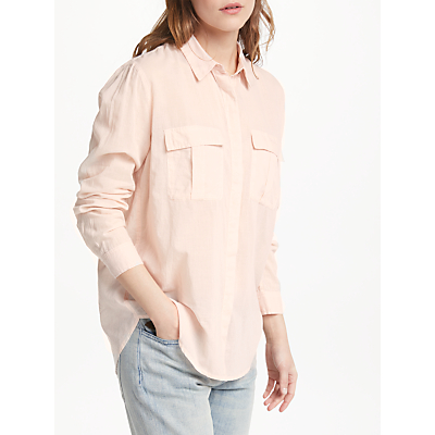 Maison Scotch Button Up Shirt, Light Blush