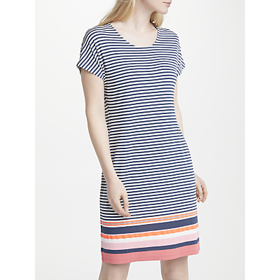 Gerry Weber Cap Sleeve Stripe Jersey Dress, Blue/White