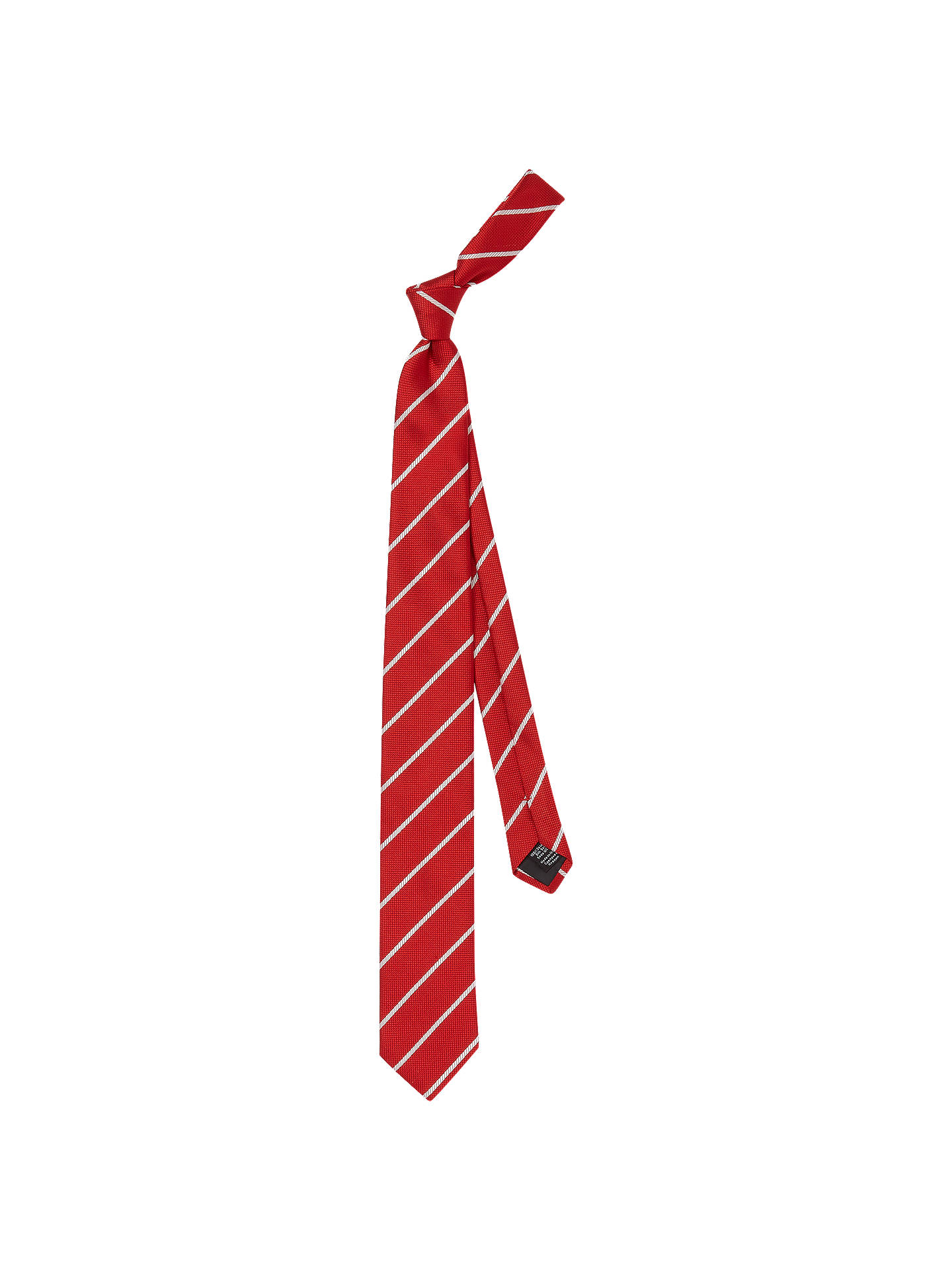 HUGO by Hugo Boss Diagonal Stripe Jacquard Silk Tie, Bright Red