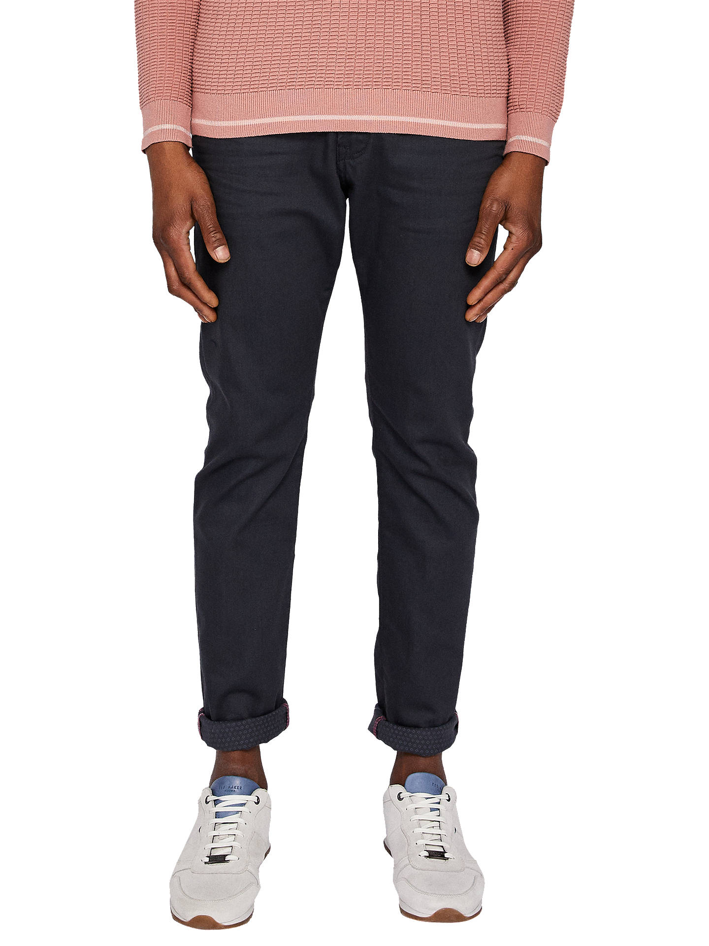 Buy Ted Baker Printo Straight Fit Jeans, Grey, 34L Online at johnlewis.com