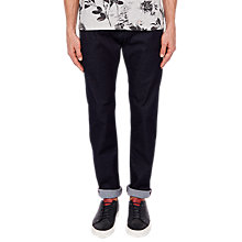 Buy Ted Baker Vindie Straight Jeans, Dark Wash Online at johnlewis.com