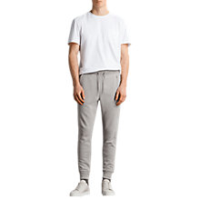 Buy AllSaints Raven Cuffed Tracksuit Bottoms, Putty Grey Online at johnlewis.com
