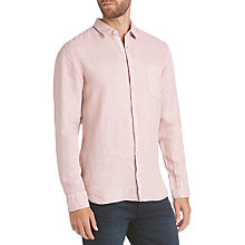 Buy BOSS Cattitude Slim Fit Linen Shirt, Pastel Pink Online at johnlewis.com