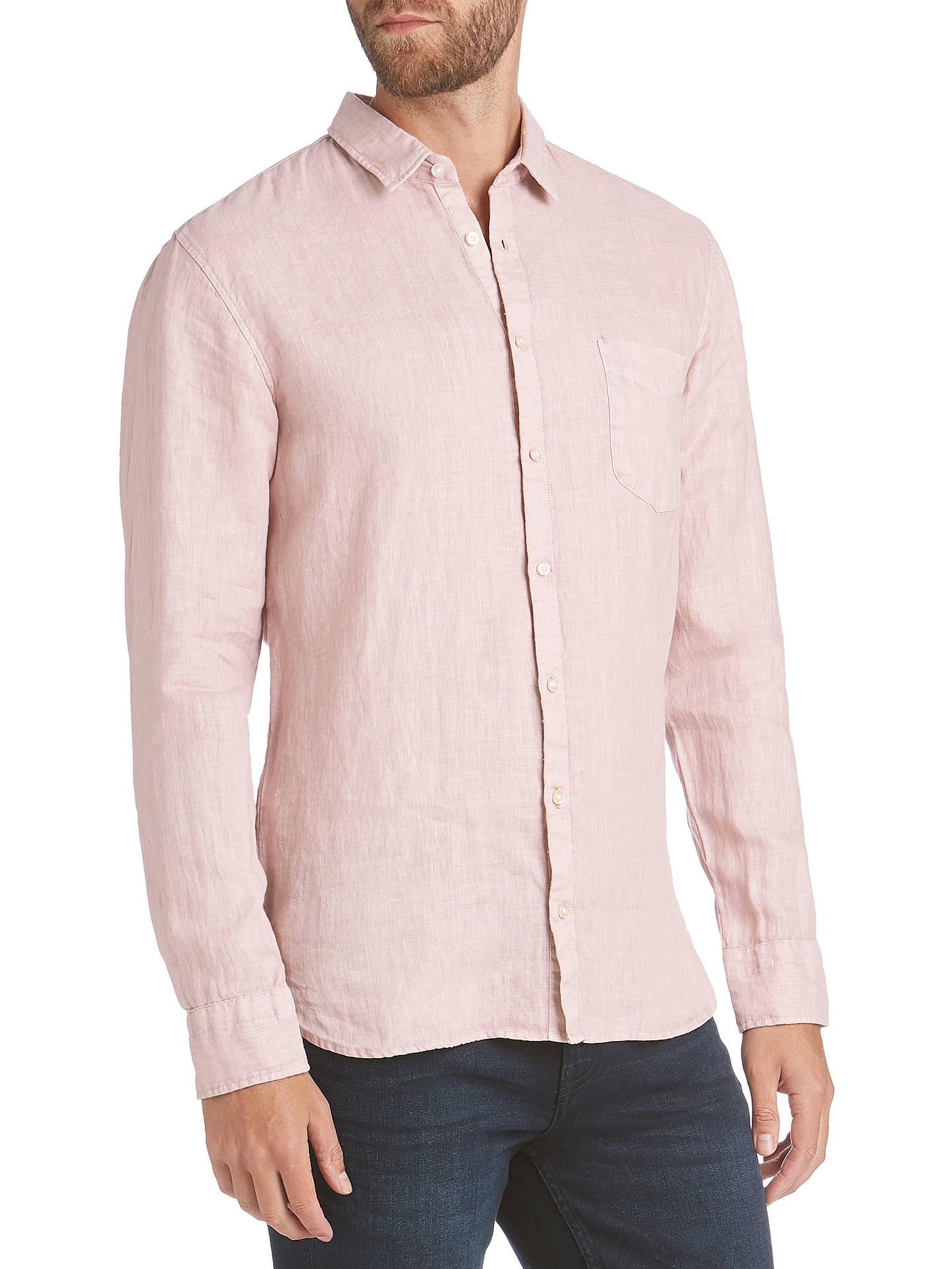 4ebbed3a17a5 Buy BOSS Cattitude Slim Fit Linen Shirt