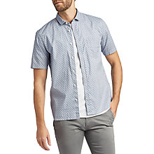 Buy BOSS Erumba Short Sleeve Shirt, Blue Online at johnlewis.com