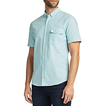 Buy BOSS Ellibre Short Sleeve Shirt, Turquoise/Aqua Online at johnlewis.com