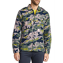 Buy BOSS Cienfuegos Long Sleeve Printed Shirt, Light Green Online at johnlewis.com