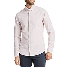 Buy BOSS Epreppy Printed Long Sleeve Slim Fit Shirt, Pastel Pink Online at johnlewis.com