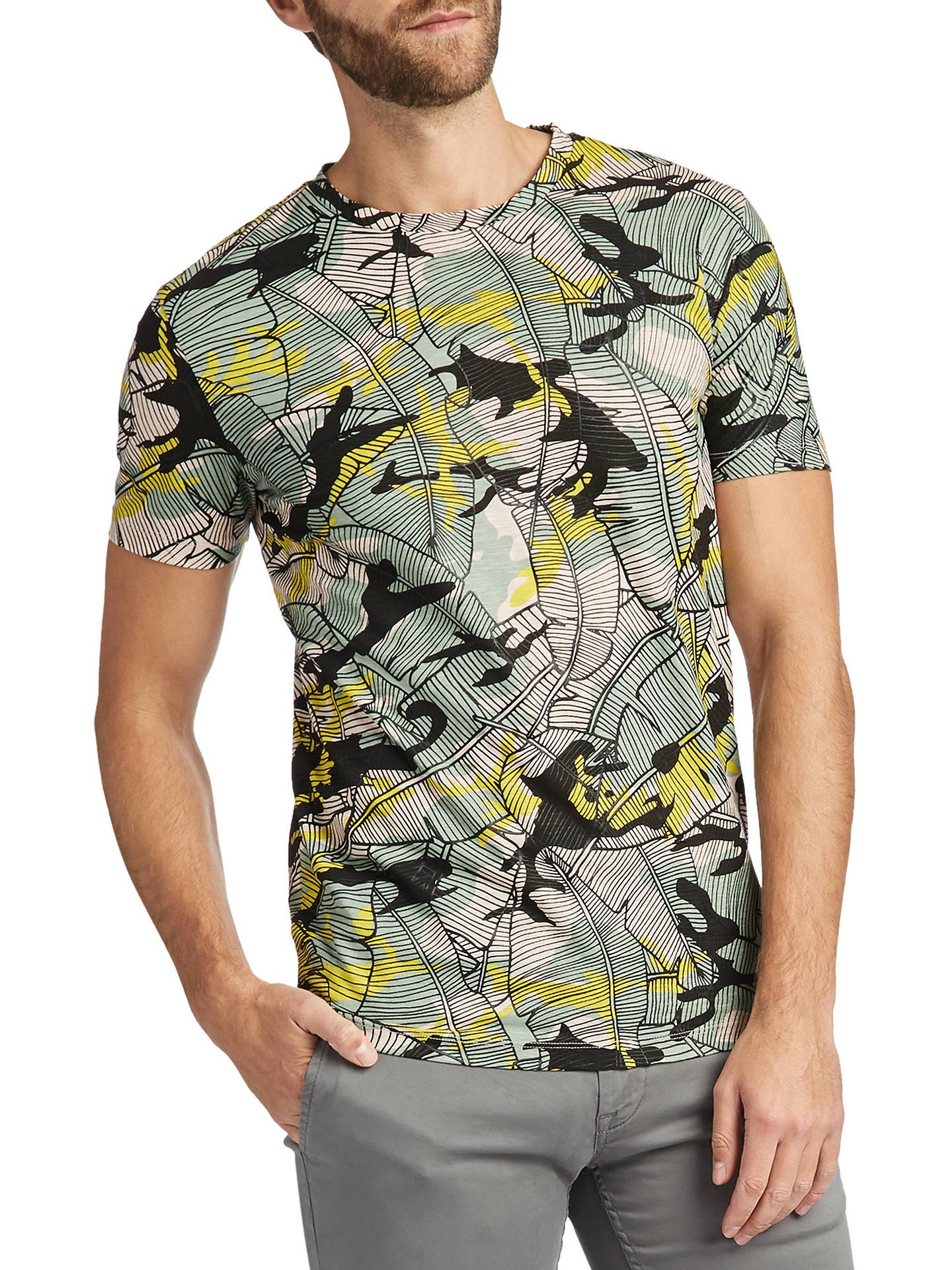 328ad04ba Buy BOSS Tarjo Short Sleeve Jungle Print T-Shirt, Light Pink, S Online ...
