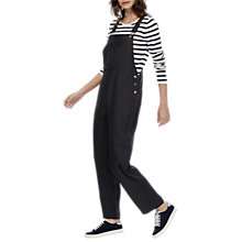 Buy Brora Textured Dungarees, Black Online at johnlewis.com