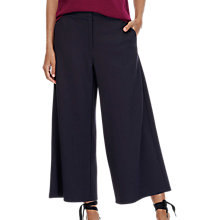Buy Brora Tailored Jersey Cropped Trousers, French Navy Online at johnlewis.com