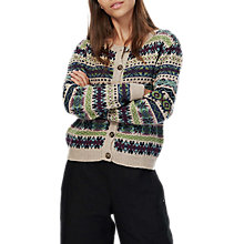 Buy Brora Lambswool Fair Isle Cardigan, Cobble Online at johnlewis.com