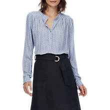 Buy Brora Graphic Print Tunic, Indigo/White Online at johnlewis.com
