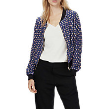 Buy Brora Liberty Silk Bomber Jacket, Navy/Multi Online at johnlewis.com