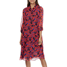 Buy Brora Liberty Print Silk Chiffon Dress, Hibiscus Floral Online at johnlewis.com