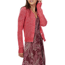 Buy Brora Textured Cardigan, Coral Online at johnlewis.com