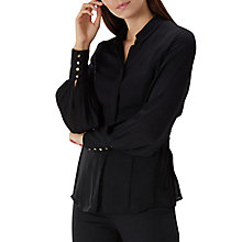 Buy Coast Lucille Drawstring Blouse, Black Online at johnlewis.com