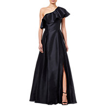 Buy Adrianna Papell Faille Long Dress, Black Online at johnlewis.com