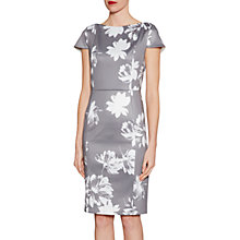 Buy Gina Bacconi Betsy Brushed Flower Dress, Grey/Multi Online at johnlewis.com