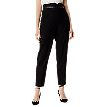 Buy Karen Millen Tailored High Waisted Trousers, Black Online at johnlewis.com