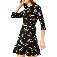 Buy Warehouse Molly Floral Ponte Dress, Multi Online at johnlewis.com