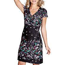 Buy Yumi Botanical Print Wrap Dress, Black Online at johnlewis.com