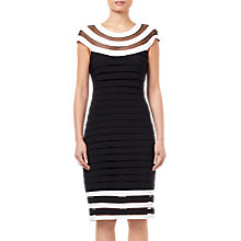 Buy Adrianna Papell Jersey Dress, Black/White Online at johnlewis.com