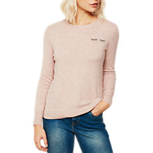 Buy Mint Velvet Eyelash Crew Neck Jumper, Blossom Online at johnlewis.com