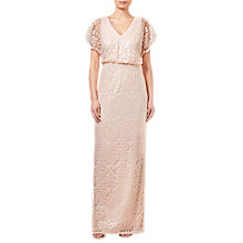 Buy Adrianna Papell Sequin Blouson Bridesmaid Dress, Blush Online at johnlewis.com
