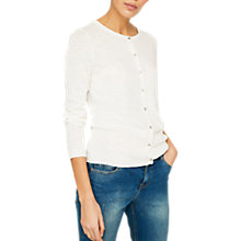 Buy Mint Velvet Cotton Cropped Cardigan Online at johnlewis.com