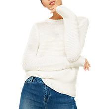 Buy Mint Velvet Chunky Stitch Jumper, Ivory Online at johnlewis.com